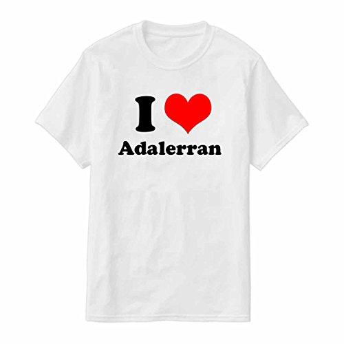 Novelty Tshirt I Love Adalerran Tshirt for Men with Siser Vinyle Printing For Long-lasting Color By Art Innovation (White, Large)