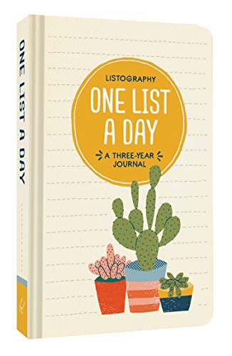 Listography: One List a Day: A Three-Year Journal por Lisa Nola