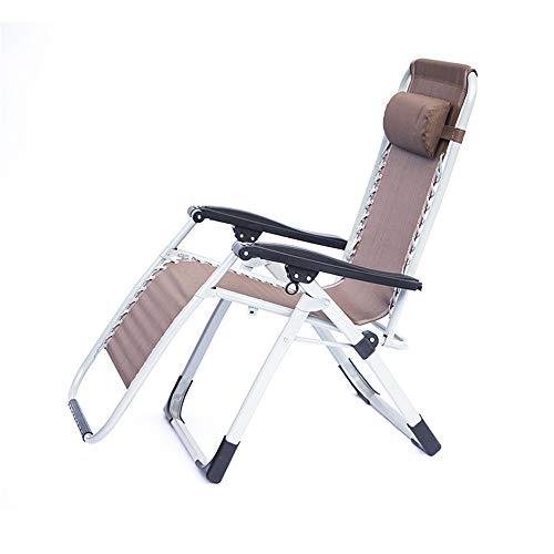 KANGJIABAOBAO Klappstuhl Brown Folding Einstellbare Garten Schaukelstuhl-48 * 69 * 115 cm Outdoor Rocker Sitz Kopfstütze Camping Angeln Patio Deck Faltender kampierender Stuhl, -
