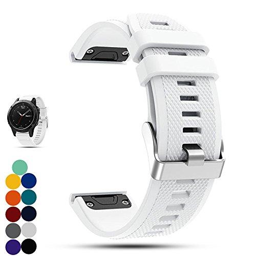 Garmin f?nix 5 GPS-Multisport-Smartwatch Uhr Ersatzband, iFeeker Weiche Silikon Schnellinstallation Armbanduhr Gurt Riemen für Garmin Fenix 5 GPS-Multisport-Smartwatch (Teal Garmin-uhr)