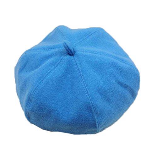 Lawevan® Femmes Cashmere Artiste peintre Beret Top Hat Bérets Bleu