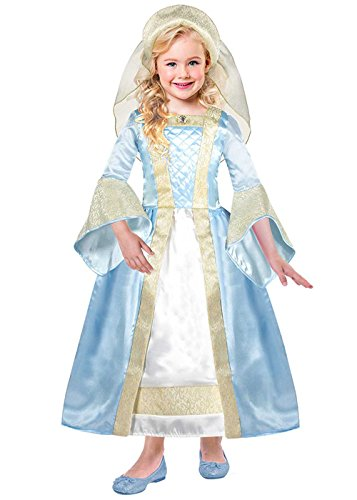 Magic Box Int. Kinder Deluxe Blue Tudor Girl Kostüm Small (3-5yrs)
