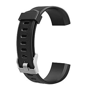 YOun - Correa de repuesto para reloj inteligente ID115Plus HR, negro, 180.00*100.00*20.00 4