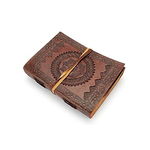 A.P. Donovan - Notizbuch mit Leder-Einband - journal diary - kalender, Organizer - leeres Buch, Reise-Tagebuch - Braun, DIN A6