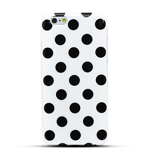 Zooky® Weiß TPU POLKA DOT Schutzhülle / Hülle / Cover für Apple iPhone 6 6S (NICHT iPhone 6 Plus) Weiß