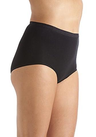 3 Pack Of Womens/Ladies Lingerie/Underwear Comforts Maxi Briefs Black, 22