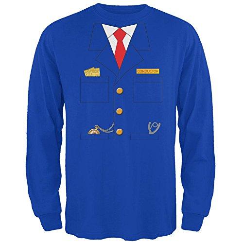 Halloween Zug Dirigent Kostüm Royal Erwachsenen Langarm T-Shirt-X-Large