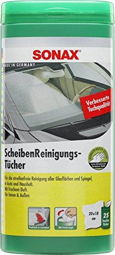 SONAX 412000 ScheibenReinigungsTücher Box, 25 Stück