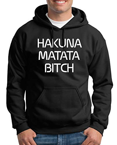 TShirt-People Hakuna Matata Kapuzenpullover Herren M Schwarz