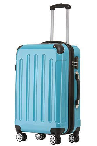 BEIBYE Zwillingsrollen 2048 Hartschale Trolley Koffer Reisekoffer Taschen Gepäck in M-L-XL-Set (Türkis, M)