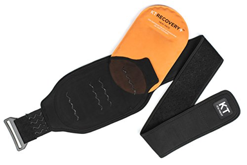 KT TAPE KT Recovery+ Ice/Heat Compression Therapy System with Adjustable Wrap, Black -