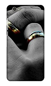 PrintHaat Designer Back Case Cover for Gionee S6 (couple having hand in hand :: loving hands :: togetherness :: love :: affection :: lovely moments :: ring in fingers in grey and golden)