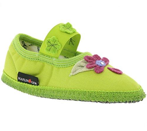 Slipper Kinder Pantoletten 0 Hausschuhe 629090 Schuhe 298 Grün Haflinger Flower aSfwda