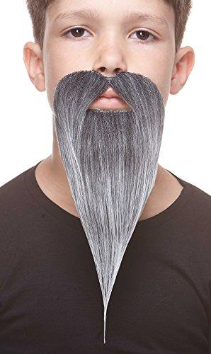 Mustaches Selbstklebende Kleiner Philosopher Fälschen Bart für Kinder Salz und Pfeffer Farbe (Salz & Pfeffer Kostüm)