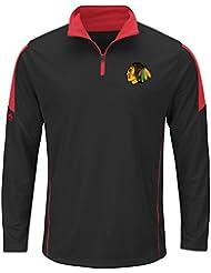 "Chicago Blackhawks NHL ""Estado"" cool Majestic base 1/4 Zip performance camiseta Talla:xx-large"