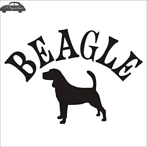 58x83cm Auto BEAGLE Auto Pet Shop Sticker Beagle Dog Decalcomania del vinile Wall Art Decal e Decor Murale Pet Shop Stick