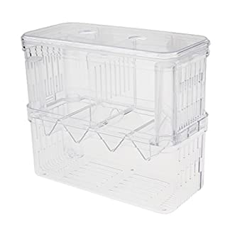 Sharplace Floating Fish Aquarium Hatchery Breeding and Parenting Box with Live Fry Trap 14