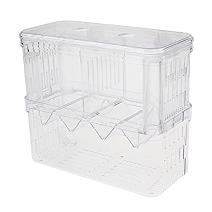 Sharplace Floating Fish Aquarium Hatchery Breeding and Parenting Box with Live Fry Trap 1