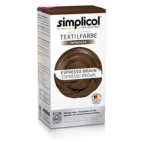 Simplicol 1818 simple Textile Coloration dans la machine à laver, contenu du complet avec Teinture, poudre, Espresso-braun 1816, 1 Pack