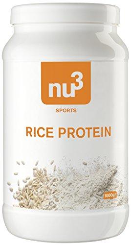 nu3 veganes Reis-Protein aus Vollkorn-Reis mit 82% Protein; 1kg - vegan, laktosefrei und glutenfrei