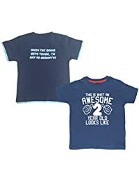 Edward Sinclair Awesome 2 & When The Going Gets Tough I'm Of To Granny's ! Navy T-Shirts