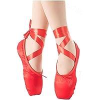 Ghope Enfants Ballet Chaussures Filles Chaussures de Danse Ballet Pointe  Chaussures Chaussures de Formation Souples Semelles 6862cd8d26c5