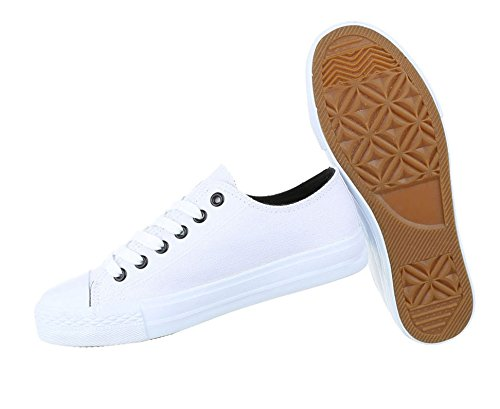 Damen Freizeitschuhe Schuhe Sportliche Sneakers Turnschuhe Schwarz
