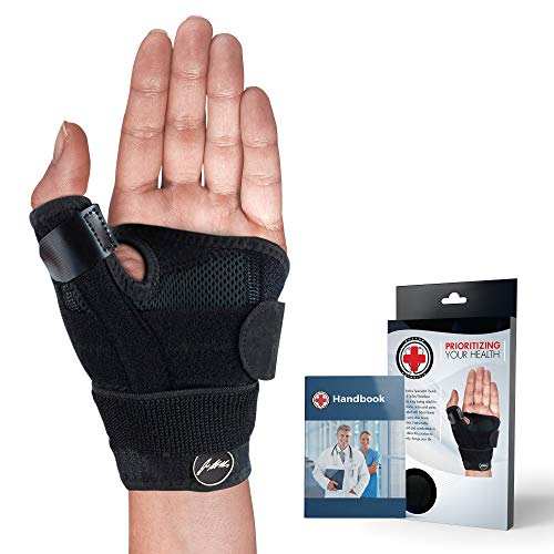 Daumenstütze, Daumenbandage zur Linderung von Verstauchungen, Zerrungen, Arthritis uvw. (Schwarz)