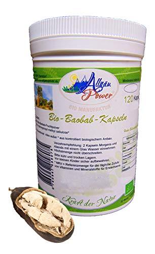 Baobab Kapseln – BIO – 120 Stück – 650 mg – Vitamin und Ballaststoff Quelle