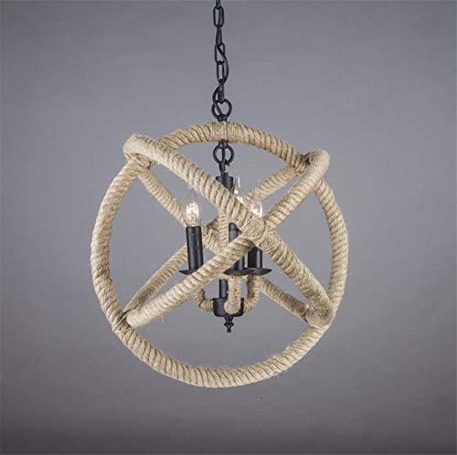 NUYAN NY Amerikanischen antiken Schnur kronleuchter Wohnzimmer kreative bar Lampe loft Retro industriellen Wind persönlichkeit globus kronleuchter (ohne Birne) - Globus Mittlere Schraube