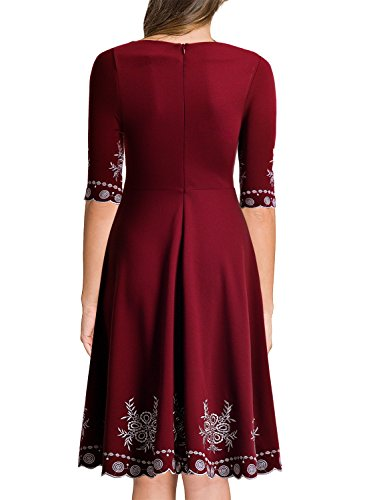Miusol Abendkleid Sommer Kurz Vintage Rockabilly Kleid Cocktail Ballkleid - 2