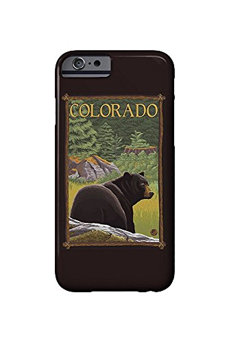 Colorado- Black Bear in Forest (iPhone 6 Cell Phone Case, Slim Barely There) -