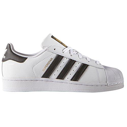 Adidas Superstar Blancas para Mujer de Piel. Sneakers (38 2/3 EU, White/Core Black)