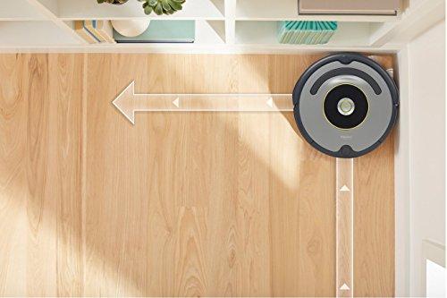 iRobot Roomba 615 - Robot aspirador, potente sistema de limpieza, aspira alfombras y suelos duros, atrapa el pelo de mascotas, color plata