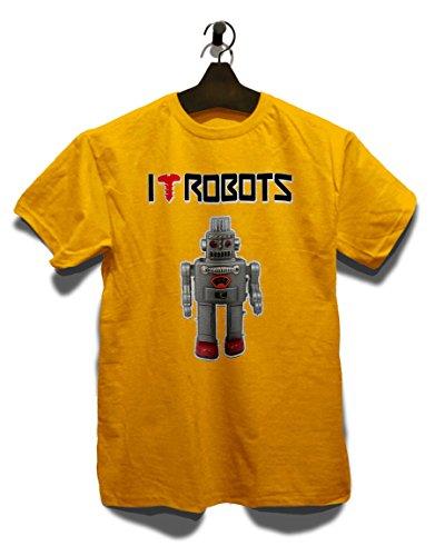 I Love Robots T-Shirt Gelb