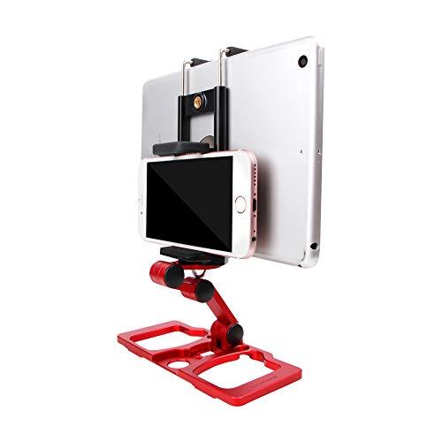 PENIVO 3.5-10 Zoll Fernbedienung Halter Handy Tablet Metallhalterung mit Schultergurt Halterung für DJI Mavic 2 /Air /Spark CrystalSky Drone Monitor Bracket Zubehör (With Crystalsky Stand, Rot)