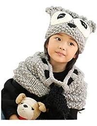 5980cdcc9bff1 CGN Niños Animales Tejer Sombrero Bufanda Invierno Caliente Beanies Hecho a  Mano cofia Encapuchado para niños