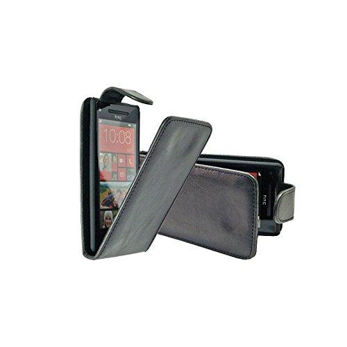Schutzhülle Cover Flip Case aus Kunstleder für HTC Windows Phone 8X schwarz (Windows Covers Htc Phone)