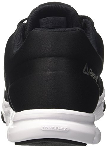 Reebok Yourflex Train 9.0 Mt, Scarpe Indoor Multisport Uomo Nero (Black/Skull Grey/White)