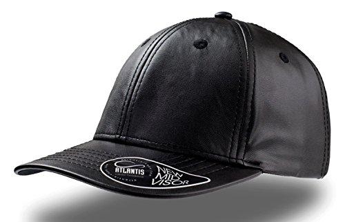 lewis-baseball-cap-eco-leather-hat-hute-kappen-chapeaux-beanie-black-one-size