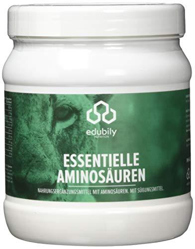 Basis-sortiment (EAA Pulver vegan, 8 essentielle Aminosäuren, Leucin Isoleucin Valin Lysin Phenylalanin Threonin Methionin Tryptophan, leicht löslich, EAAs Aminosäuren, Saurer Apfel Geschmack, 500 g)