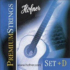 Cordes HPS-SET+D Premium High Tension de Höfner pour guitare de concert