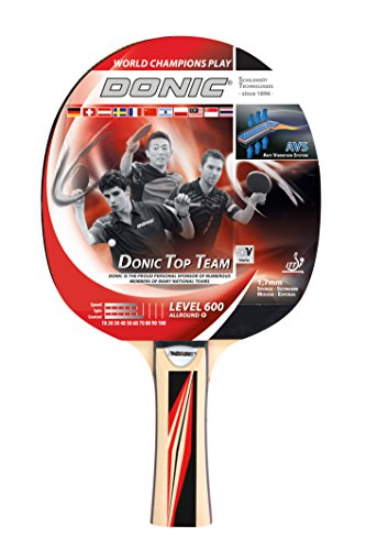 Donic-Schildkröt Tischtennisschläger Top Team 600, AVS-Griff, 1,7 mm Schwamm, Donic 2-Stern - ITTF Belag, 733236