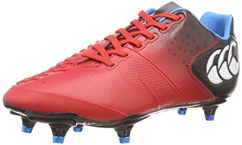Canterbury Control Elite 6 Stud, Chaussures de Rugby homme Rouge (438)