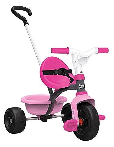 Smoby Toys, 740315,Tricycle Evolutif Be Move, Dispositif Roue Libre et Verrouillage Guidon, Rose
