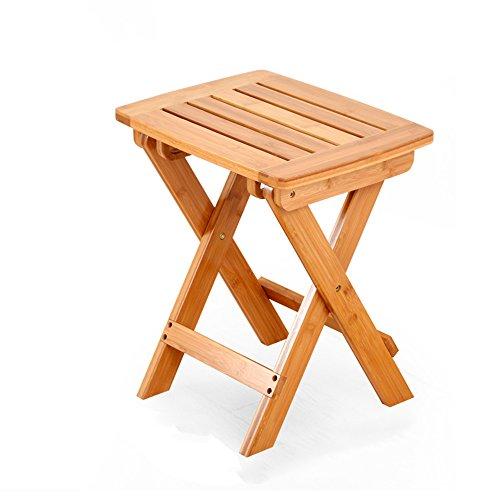Silla plegable / de bambú taburete plegable / portátil hogar caballo de madera maciza / de exterior silla de pesca / taburete pequeño / taburete pequeño / taburete / dos colores dos tamaños opcional / silla plegable para niños / ( Color : Original color , Tamaño : 25*26.5*34.5cm )