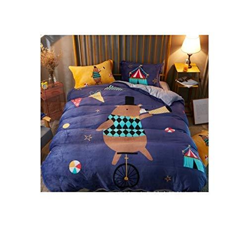 The Unbelievable Dream Bettlaken Flanell warme Bettwäsche Set Baumwolle waschbar einfache niedliche Kinder Kinder Erwachsene Tier M