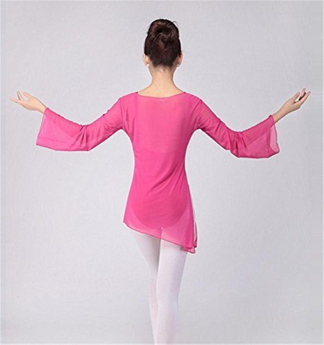 formation des amples robe / danse ballet formation tops Rose