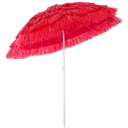 Deuba Parasol Hawaii - Ø 160 cm - Pare Soleil Inclinable pour Jardin terrasse Plage
