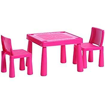 Childrens Kids Plastic Garden Outdoor Or Indoor Table and 2 Chairs Set For Boys Or Girls  sc 1 st  Amazon UK & Childrens Kids Plastic Garden Outdoor Or Indoor Table and 2 Chairs ...
